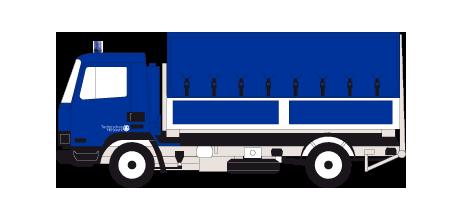 Rein ins THW Lastkraftwagen 13 t Nutzlast, Abrollkippersystem (WLF 13)